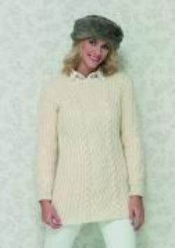 Stylecraft Life Aran Sweater Knitting Pattern 8486