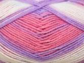 Stylecraft Merry Go Round Baby DK Knitting Yarn Rose/Purple 3121